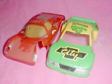"""2 Bodies 3"""" & 3 3/4"""" WB used Slot Car Chevy & Ferrari painted slot car bodies"""