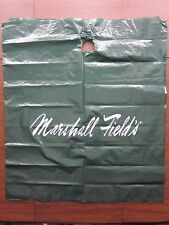 "Marshall Field's Green Plastic Bag White Lettering 27"" wide x 31"" tall ~ USED"