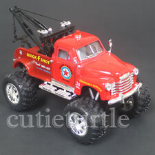 Kinsmart Off Road Big Foot Monster 1953 Chevy 3100 Wrecker Tow Truck 1:38 Red
