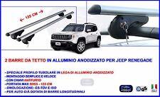Barre Portatutto Portapacchi per Jeep Renegade in Alluminio + Chiavi Antifurto
