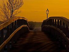 AUTUMN SUNSET OVER BRIDGE PHOTO ART PRINT POSTER PICTURE BMP179A
