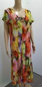 MIXIT TAG SIZE 16 BRIGHT BOHO LONG DRESS SMART CASUAL PARTY WEAR