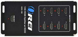 4K 1x8 HDMI Splitter by OREI, 1 to 8 HDMI Display Duplicate Ver 1.3(HDS-108)