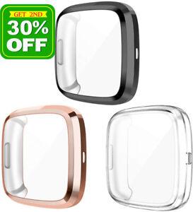 For Fitbit Versa 3 2 Lite Sense Watch Screen Protector Full Soft TPU Case