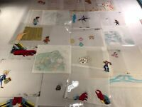 Animation Production Cels and DrawIngs Lot - 23 Cels and 20 Drawings