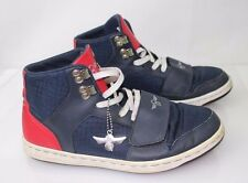 CREATIVE RECREATION Men's High tops Blue Red White Size 8 Made in Vietnam