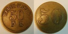50 Pfennig Hotel Prince Bismark RC ca. 1900 Colonies: German South West Africa
