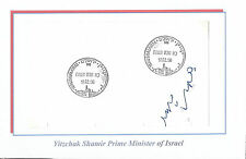 1998 ISRAEL  Yitzhak Shamir  7th Prime Minister of ISRAEL SIGNED  AUTOGRAPH