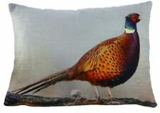 WILD THING COUNTRY RED PHEASANT FILLED EVANS LICHFIELD COTTON CUSHION 43 X 33CM