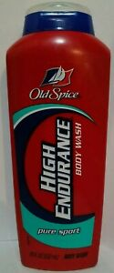 Vintage Old Spice High Endurance Body Wash Pure Sport New for Men, 18 fl oz