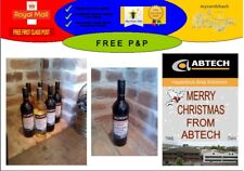 Personalised Corporate Wine Labels (Pack of 18) Business Company FREE DESIGN