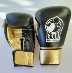 GRANT PROFESSIONAL Boxing Gloves Size 14.OZ Gold/Black