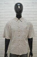 Camicia Uomo GENIUS Taglia 2XL Camicetta Manica Corta Maglia Shirt Men's Casual