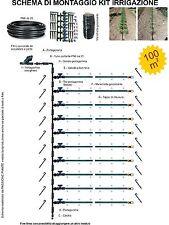 kit irrigazione orto giardino a goccia 100 mq modulare ampliabile completo