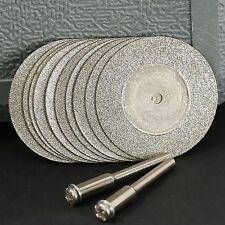 10PCS 35mm Diamant beschichtet Cutting Discs Arbor Dreh-Werkzeug Drill