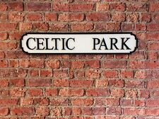 Vintage Wood Street Sign CELTIC PARK