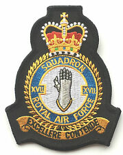 RAF No. 17 Squadron Royal Air Force Military Embroidered Patch Official Crest