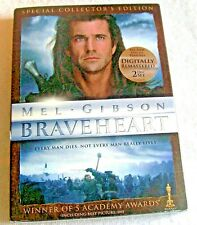 """Braveheart with Mel Gibson.New """"Special Collector's Edition"""" Widescreen Dvd"""