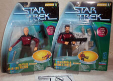 Playmates Warp Factor Picard and Riker *** Mint on Card *** Next Generation