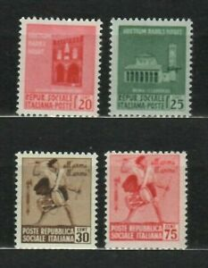 s33560 ITALIA RSI DEALER STOCK 1944 MNH Monumenti distrutti I^ 4v X 10 SETS