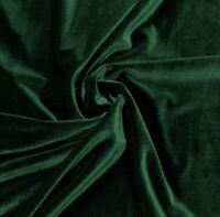 "Hunter Green 2way stretch velvet fabric 60"" Width Sold By The Yard"