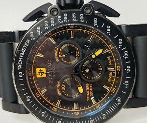 Zodiac ZMX02 Chronograph Watch Black Orange ZO8535 45mm