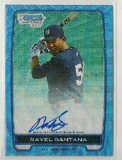 Ravel Santana 2012 Bowman Chrome Prospect BLUE WAVE Refractor Auto /50 - YANKEES