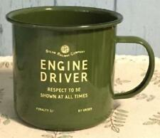 Engine Driver enamel mug green Harvey Makin railway humour