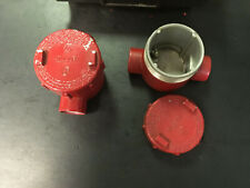 Used Killark Hubbell Gemc 1 Aluminum Outlet Body For Hazardous Location Red