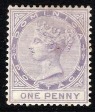 Dominica 1883 lilac 1d crown CA perf 14 mint SG14