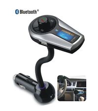 Bluetooth MP3 3.5mm FM Transmitter Handsfree Car Charger Steering Wheel Remote