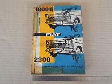 CATALOGO PARTI DI RICAMBIO ORIGINALE 1962 FIAT 1800 B - 2300 1800B BERLINE