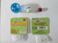 "MARBLE DISPLAY RINGS  HOLDERS BY MEGA MARBLES 12 PACK WILL HOLD FROM 3/4"" TO 2"""