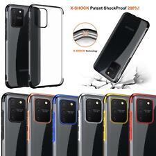 Negro Azul METAL Gel Transparente Funda De Teléfono Para Samsung Galaxy A10 A20E A40 A50 A70A80