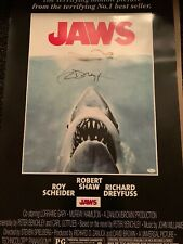 Jaws Movie Poster Signed By Richard Dreyfuss JSA COA 24x36 Nice