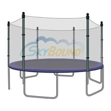 SkyBound Trampoline Net Fits Round 12 Ft. Frames Fits 6 Straight Poles