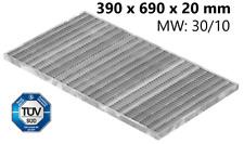Gitterrost Normrost verzinkt Lichtschacht 390x690x20 mm mw30x10 mm Stahl S235JR