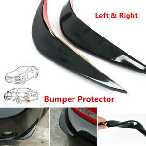 2PC 3D Flexible Car Bumper Guard Cover Protector Streamline Anti-rub Crash Strip