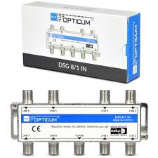 Opticum DiSEqC Interruttore 8-1 COMMUTATORE 8 satelliti Switch HDTV HD UHD 4k 3d SKY