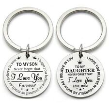 Stainless Steel Personalized To My Son Inspirational Gift Keychain Key Chain New