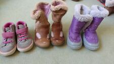 Winter boots & trainers bundle infant size 7 Clarks and Tresspass Snuglly warm