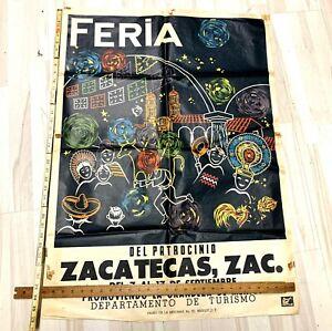 Feria Del Patrocinio Vintage 1965 Poster Paper Mexico Tourism Zacatecas