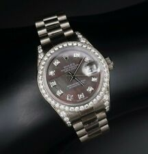Ladies Rolex President 18k Crown Collection Diamond Box Papers 179159 CO272