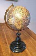 """Globus """"Die Erde"""" Felkl 1875 World Globe The Earth Tischglobus Erdglobus 19. Jh."""