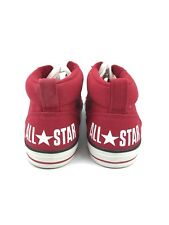 Converse All Star Chuck Taylor Mens 12 Womens 14 Street Mid Red White Canva
