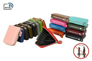 Credit Card Holders RFID Protector Small Leather Credit Card Case Wallets Unisex