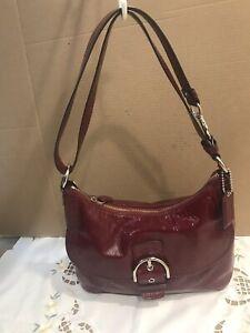 Coach Patent Leather Should Bag Purple H2093- F19700