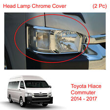 Head Lamp Light Chrome Cover Trim 2 Pc For Toyota Hiace Commuter Van 2014 - 2017