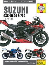 Haynes M4790 Service & Repair Manual for 2006-09 Suzuki GSX-R600 and 750