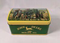 "John Deere Tin Collectable Box Hinged Lid 6.25"" X 4"""